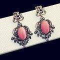 2017 High Quality Vintage BIG Opal Drop Earrings Long Big Tassels Earrings For Women CC Earrings Jewelry Accessories Wholesale