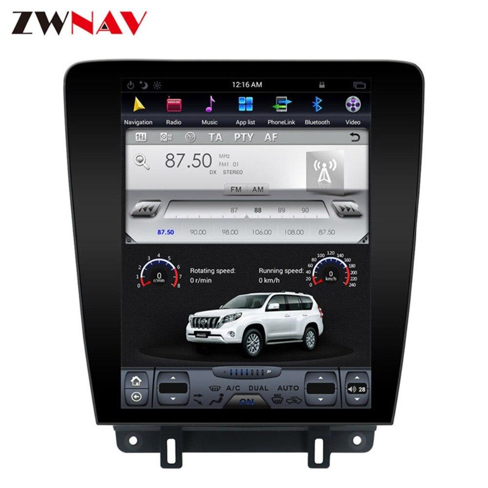 Android 7.1 Tesla Style FAI Écran Aucun Lecteur DVD GPS Navigation Radio Écran Pour Ford Mustang 2010 2011 2012 2013 2014 Tête Unité