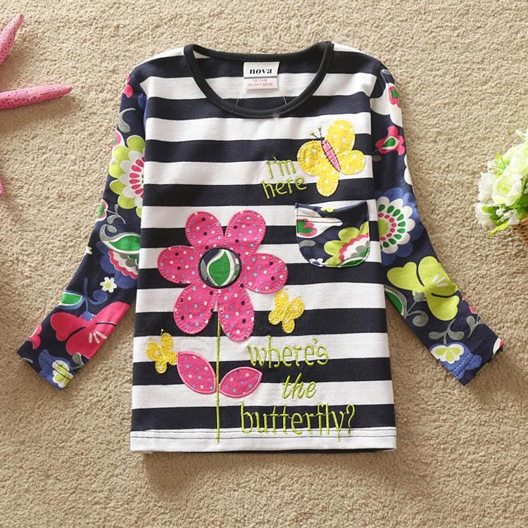 HTB1eoz2HpXXXXbpXVXXq6xXFXXXm - Girls Long Sleeve All Year T-Shirt, Long Sleeve, Cotton, Various Designs and Prints
