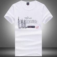 2018 Азиатский размер хорошее качество рубашка мужская акула печати  футболки брендовая одежда с коротким рукавом Люкс 41716657a4a