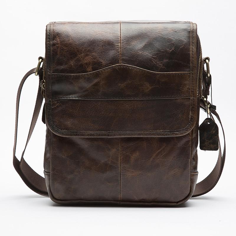 New Bsusiness Genuine Leather shoulder bag handbag Casual Vintage The first layer of leather shoulder Messenger bags travel bag [100%] the new imported genuine 6mbp50rh060 01 6mbp50rta060 01 billing