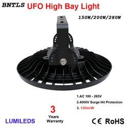 150W LED campana montaje alto luces UFO iluminación comercial, 19500LM, luz diurna blanca 6000 K, AC 185-240V 120 Ángulo de haz, IP65 impermeable