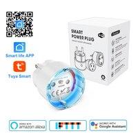 Smart life Wi-Fi умная розетка EU штекер 3680 Вт 16A мощность энергии мониторинг розетки таймер Голосовое управление работа с Alexa Google