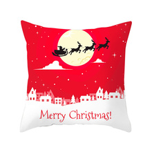 Merry Christmas Decorative Pillowcase Square Printed Throw Pillow Cover for Home Office Pillow case W1