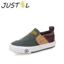JUSTSL осень г. Детская одежда с вышивкой туфли с эластичными лентами обувь для мальчиков повседневная обувь; модные кроссовки