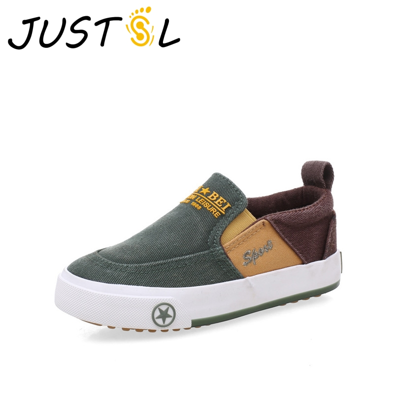 JUSTSL 2017 Autumn Children's Cloth Stitching Elastic Band Shoes Boy's Footwear Casual Shoes Kids Fashion Sneakers