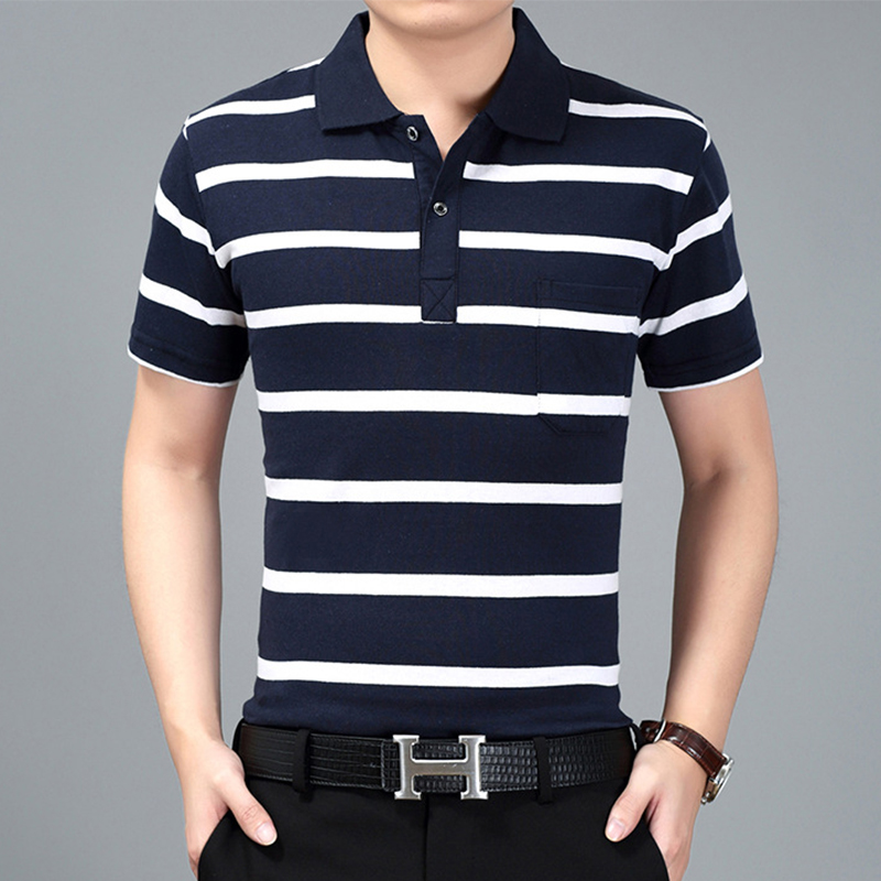 Striped polo shirt men short sleeve summer 2017 mens polo for Top dress shirt brands