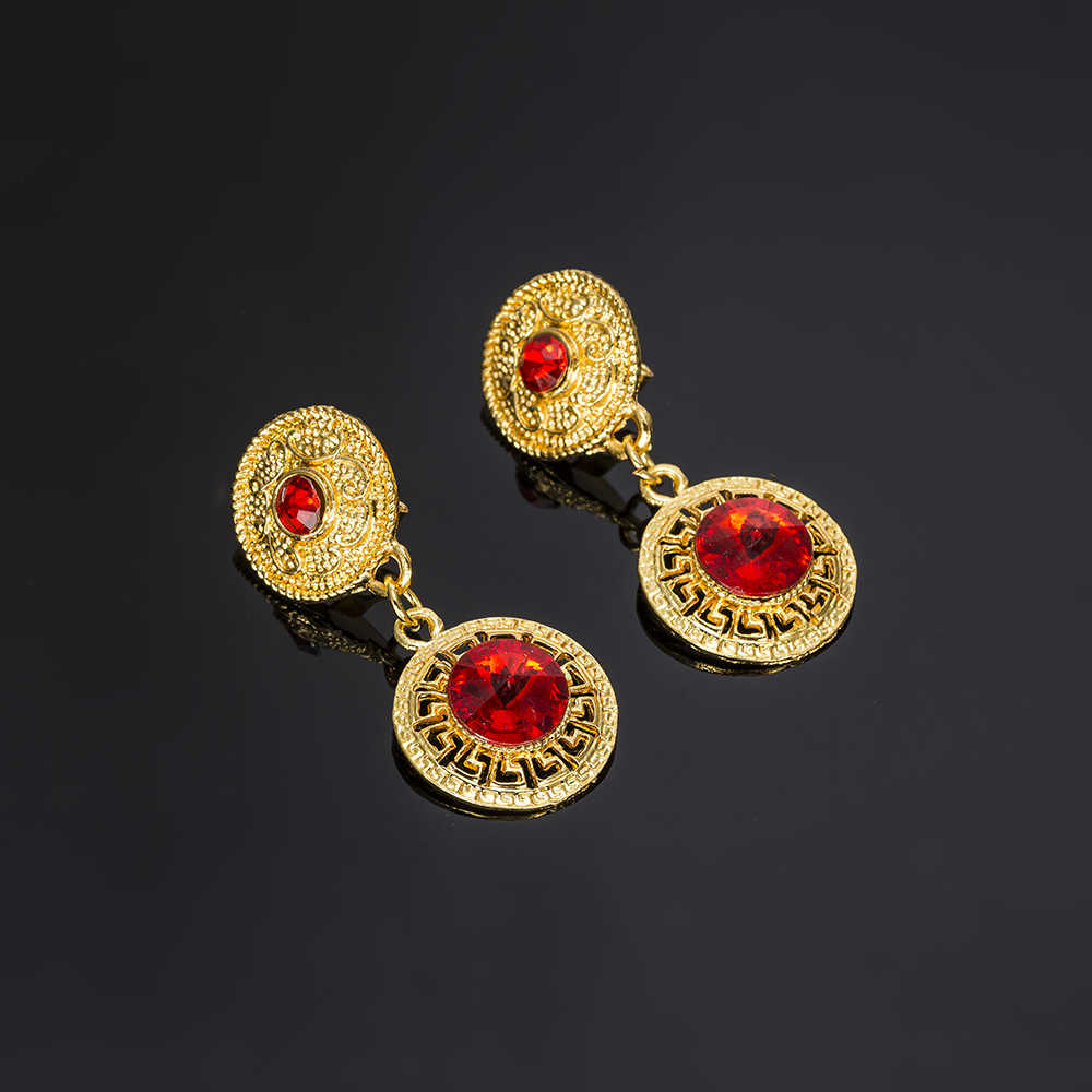 MUKUN Braut Schmuck Sets Gold Farbe Schmuck-Set Trendy Halskette Ohrringe Armband Set Für Frauen Dubai Schmuck Set + Geschenk boxen