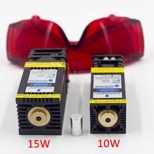 10W 15W Module Laser à mise au point fixe PWM TTL pour 2 ou 3 axes CNC Machine de gravure métal bois Laser graveur imprimante CNC laser bleu