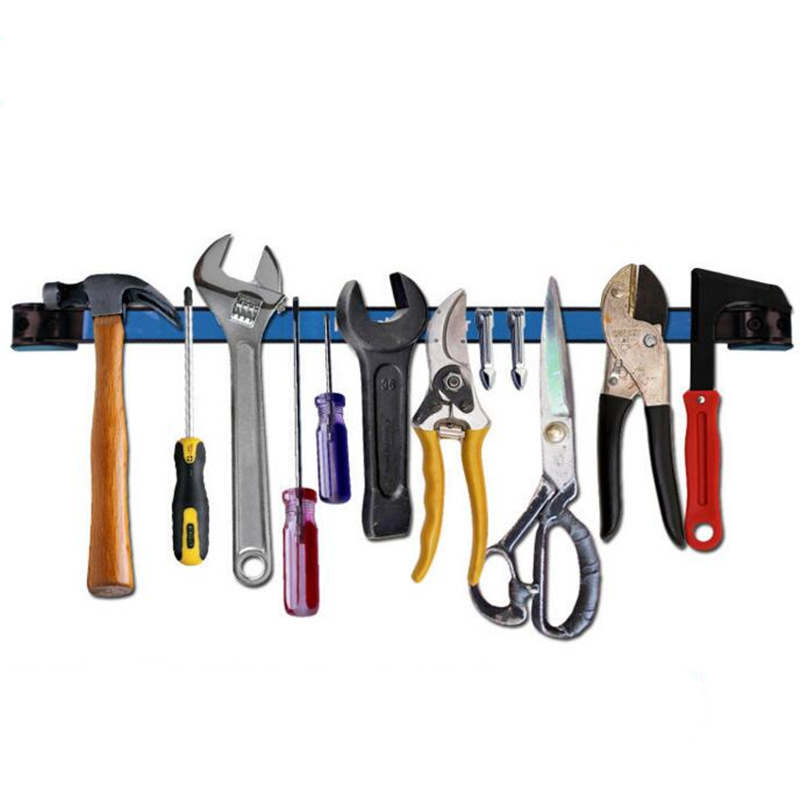 High quality Strong Magnetic tool holder Wall Mounted Strip shelf scissor plier knife tool storage rack Hardware Accessories