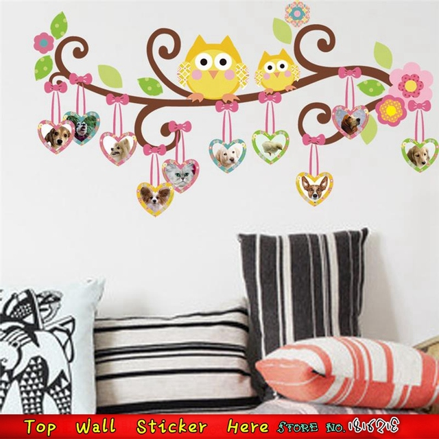 Lovely Henna Heart Tree Wall Stickers Supplies Christmas Home