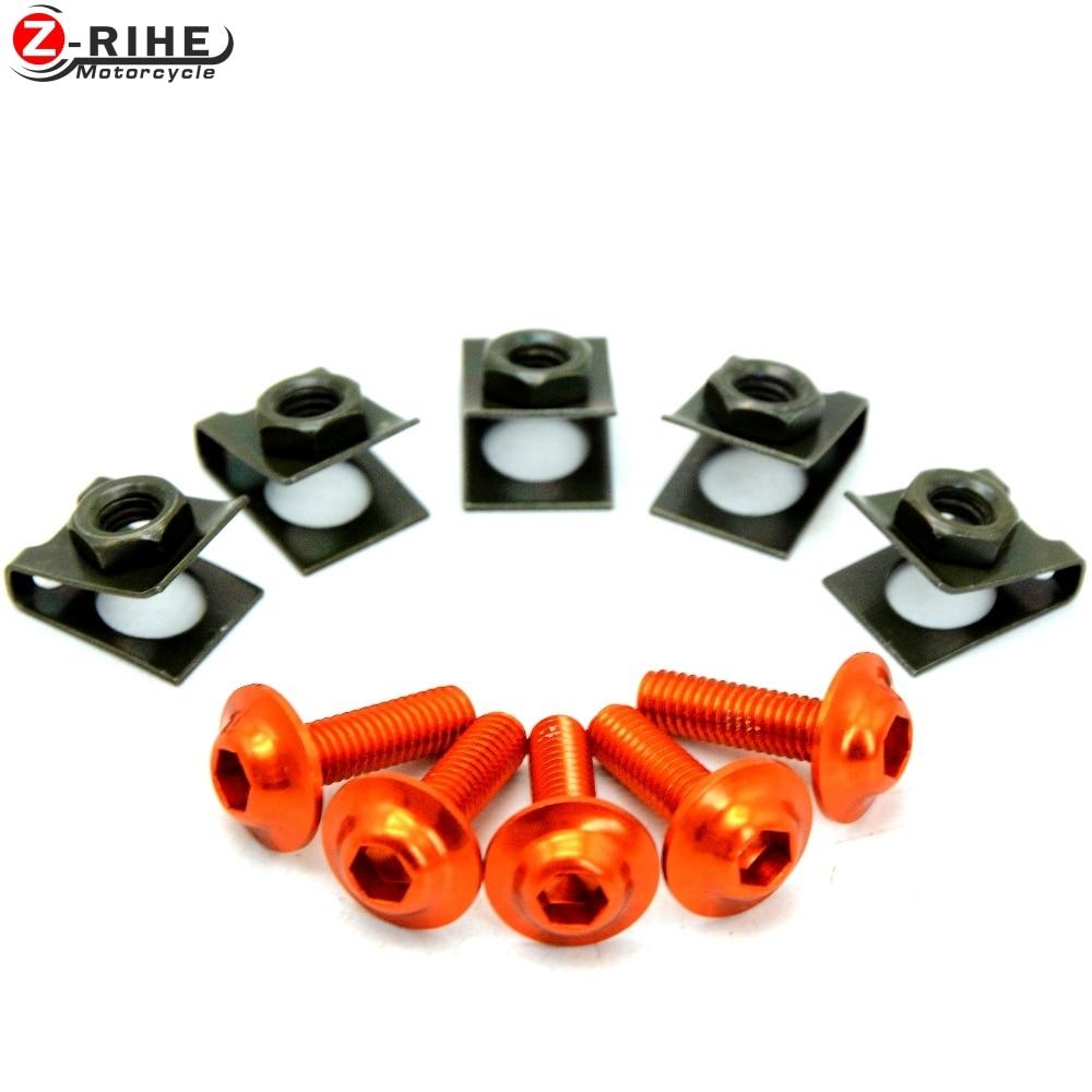 5pcs Motorcycle Parts Universal CNC Aluminium Fairing Body Work Bolt Screws for Ducati DIAVEL CARBON 1199 1198 1098 848 EVO 1200