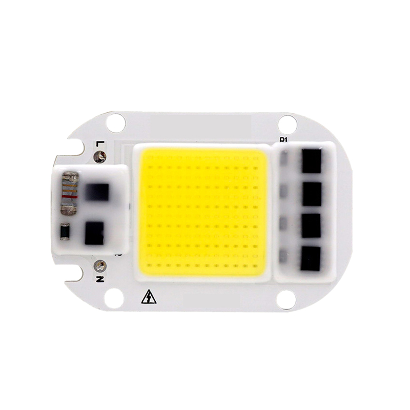 LED COB Chip 50W 30W 20W 110V 220V Smart IC Ingen behov Driverinngang High Lumens Chip for DIY LED Flomlys Spotlight Lysperler