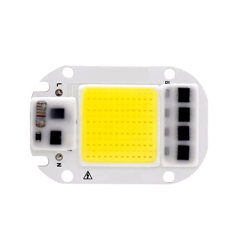 LED COB Chip 50W 30W 20W 110V 220V Smart IC No Need Driver Input High Lumens Chip For DIY LED Floodlight Spotlight Light Beads