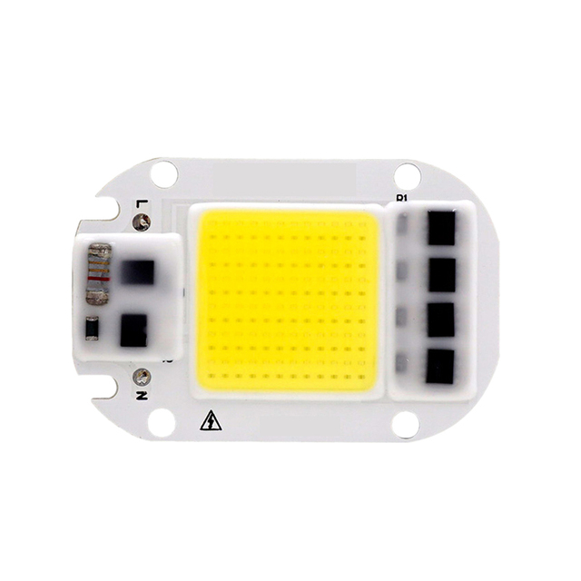 LED COB Chip 50W 30W 20W 110V 220V Smart IC No Need Driver Input