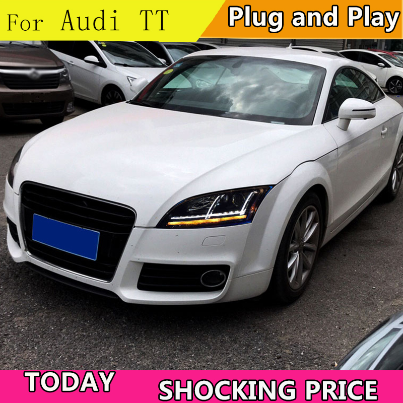 Car Styling for Audi TT headlight 2006 2014 led headlight for TT Headlight Lamp with dynamic turn signal