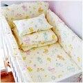 Bebé ropa de cama Cuna conjunto Contiene Cubierta de Parachoques Parachoques de Relleno y Hoja de Sueño Del Bebé Más Cómodo 100% Algodón Del Lecho Del Bebé
