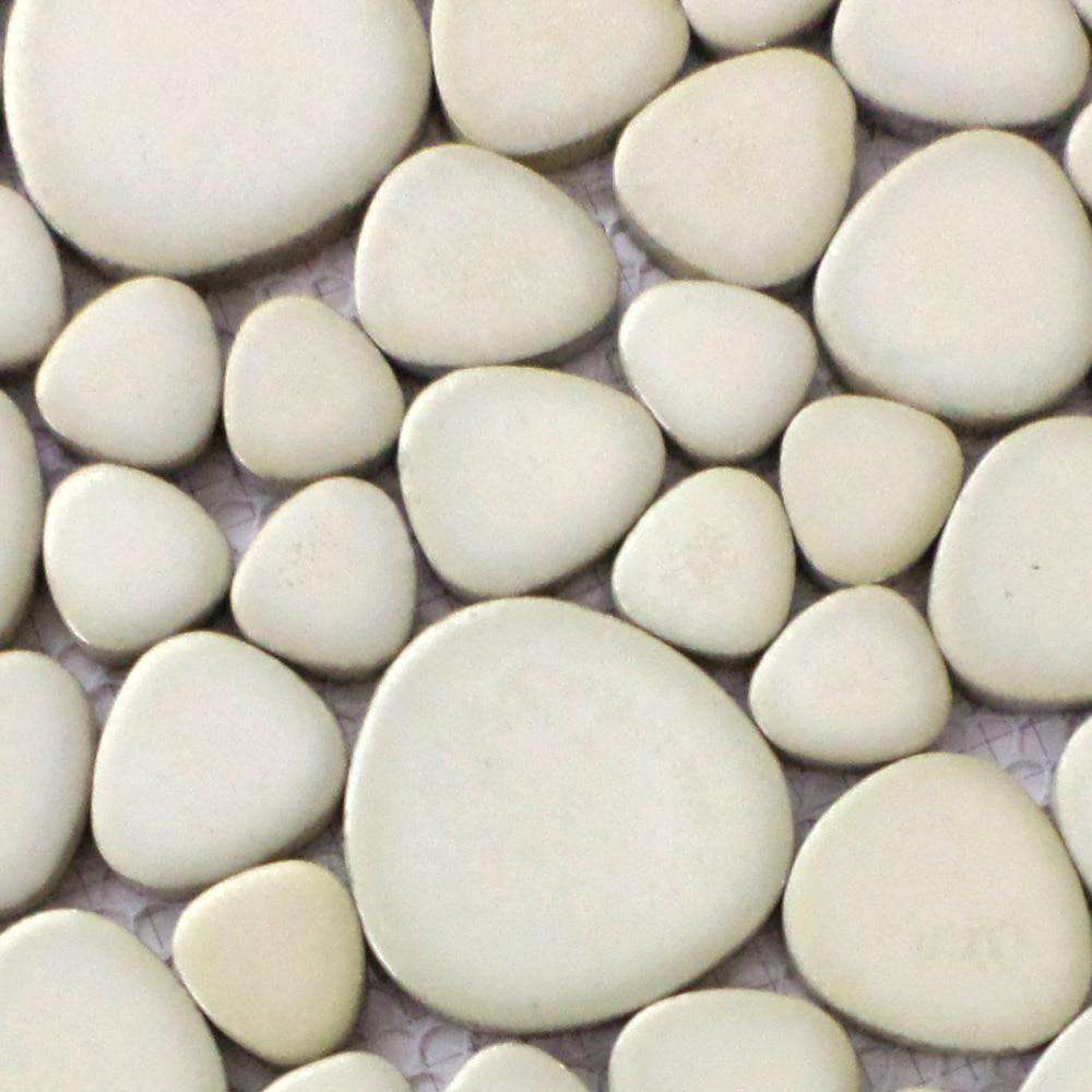 whtie color matt ceramic pebble porcelain mosaic tiles kitchen ...