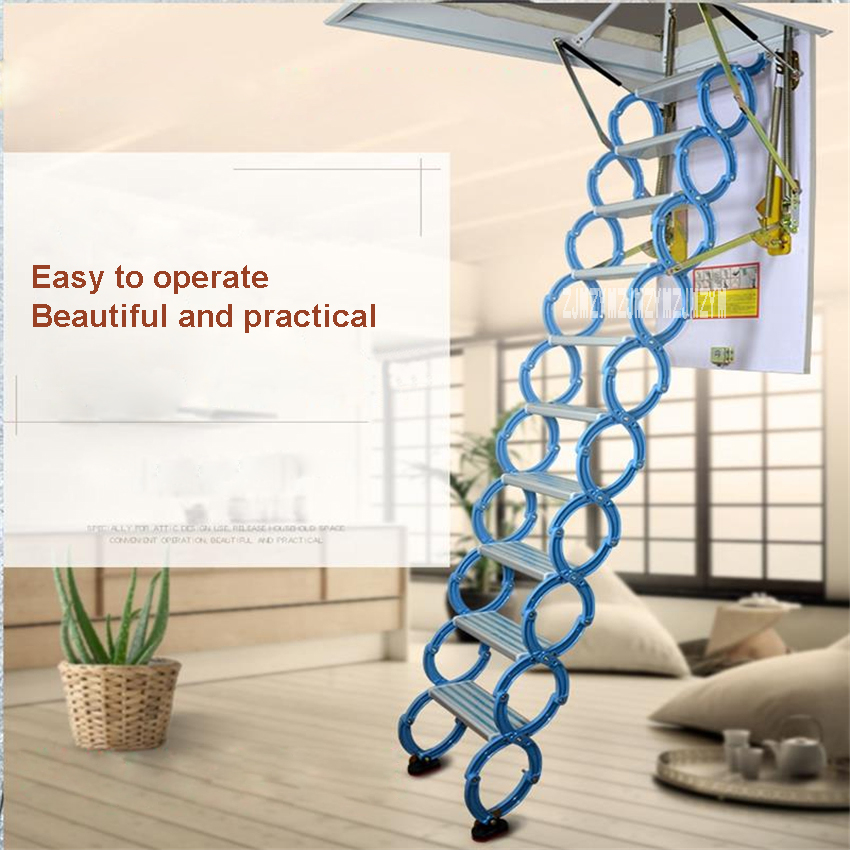 Household Tool Set Invisible Wall Hanging Retractable Staircase Home Portable Folding Ladder Indoor Telescopic Stair Chao0008