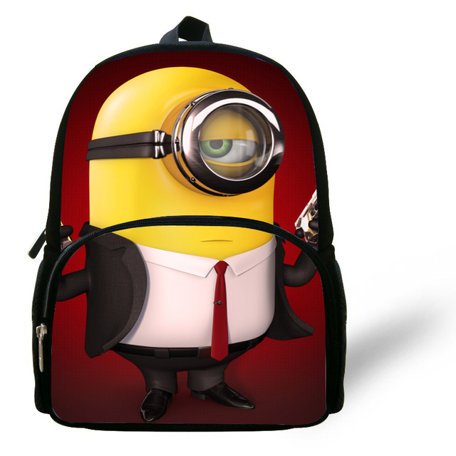 96210dd5b68 12-inch Mochila School Kids Backpack Minions Bags Despicable Me Boys School  Bags Backpack Child Age 1-6