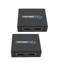 1x2 HDMI Splitter Extender 2 Port HDMI Audio Video v1.3b 1080p Splitter Adapter for HD TV PS3 3D Display HDMI Splitter Extender