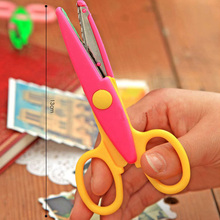 Random Color 1Set/6pcs Design Decorative Wave Lace Edge Craft School Scissors DIY for Scrapbook Handmade Kids Artwork Card Safe
