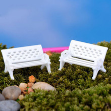 White Park Bench Seat Moss Bottle Micro Landscape Ecology Accessories Perfect for Any Miniature Garden fairy World 2016 New