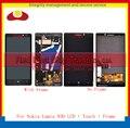 Высокое Качество Для Nokia Lumia 930 Полный ЖК-Дисплей С Сенсорным Экраном Дигитайзер Сборки Датчика Полный Панели С Рамкой Свободная Перевозка Груза