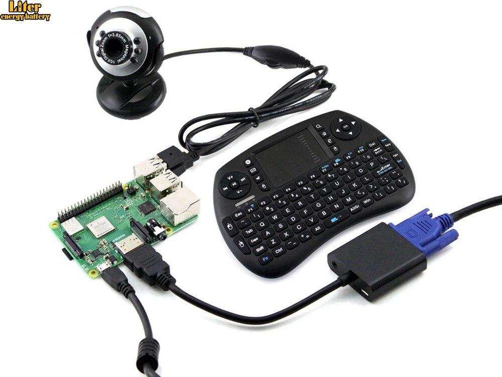 Raspberry Pi 3 modèle B + Kit de développement, caméra, Mini clavier sans fil, carte Micro SD,