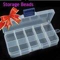 10 Slot Jewelry Rectangle Display Storage beads Organizer Case Box 1pcs