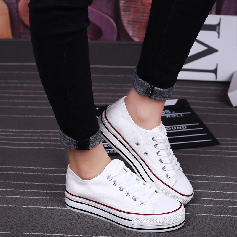 US $14.26 49% OFF|S.Romance 2018 Women vulcanized sneakers breathable flat casual white shoes woman spring and autumn canvas shoes white red SF002-in Women's Vulcanize Shoes from Shoes on Aliexpress.com | Alibaba Group