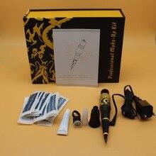 Kit de tatuagem permanente profissional, kit de tatuagem cosmética completa com pedal, agulhas para arma de tatuagem