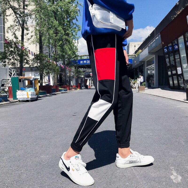 2018 Empfehlen Neue Auflistung Fashion Casual Der Wind In Haren Freizeit Zeit Hosen Baumwolle Jogger Hot City Boy Schwarz Rot M-5xl 2019 Offiziell