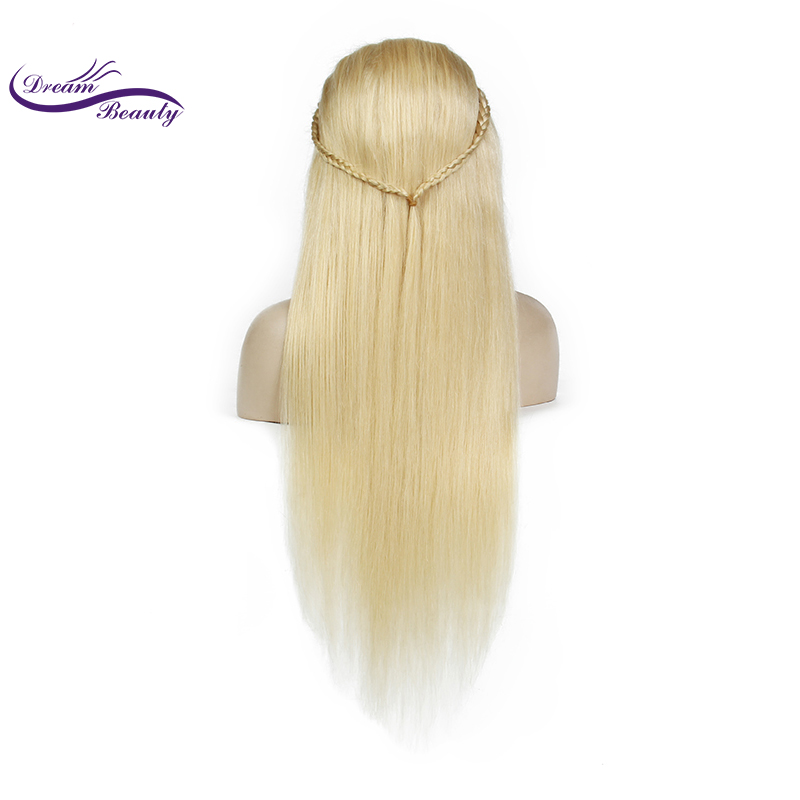 Dream Beauty Hair 613 Blonde 13x6 long deep part Lace Front Human Hair Wigs Straight Brazilian Remy Human Hair With Baby-hair