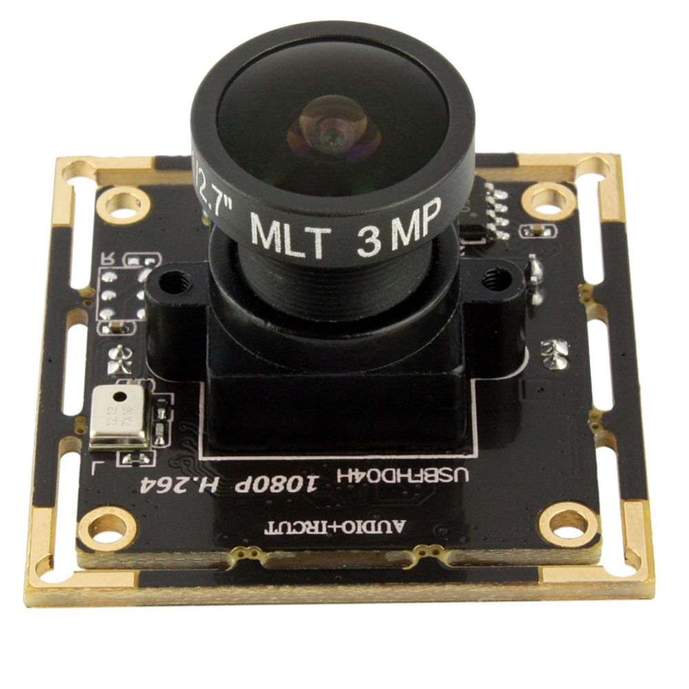 2.0 mégapixels Full HD CMOS AR0330 H.264 usb 2.0 haute vitesse grand angle 170 degrés fisheye lentille usb module de caméra web cam 1080 P
