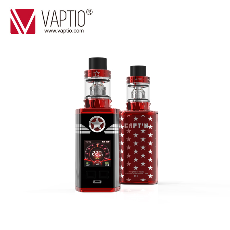 220w Vape Mod Vaptio CAPT'N Kit With 2.0ml/4.0ml Atomizertop Filling With Electronic Cigarette Mod Fitted TFV8 Baby/TFV12 Tank