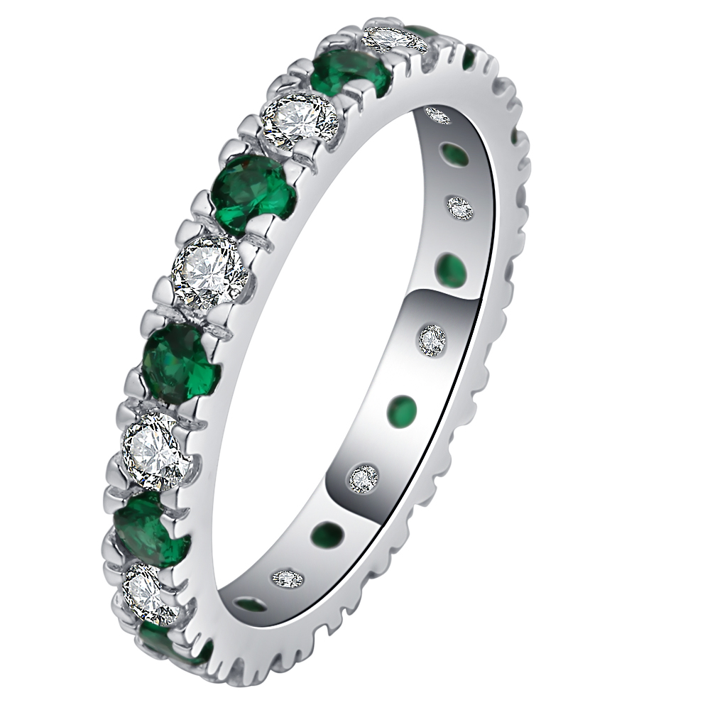 Engagement Rings Cubic Zirconia Rings Luxurious Green Jewelry Wedding Ring silver Color Women Ring For Party