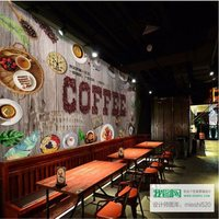 Large custom murals wallpaper wood board style decorating wallpaper afternoon tea coffee restaurant background wall paper