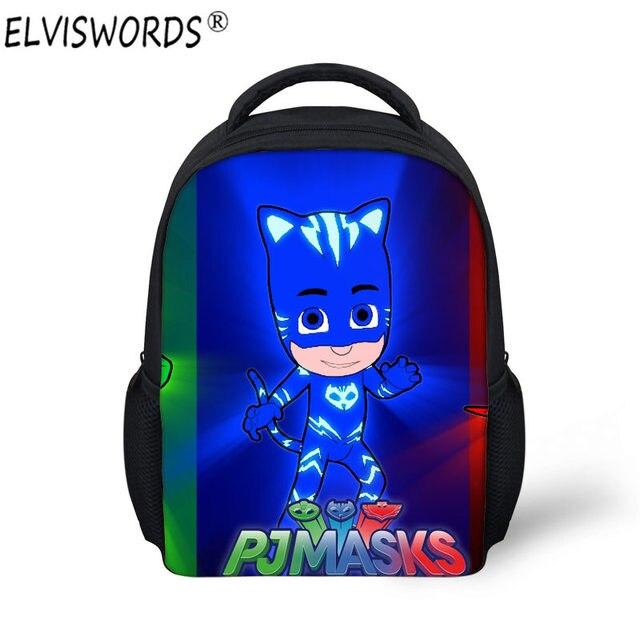 574d1b72bbca ELVISWORDS PJ Masks Schoolbag for Kindergarten Baby Kids Christmas Custom  Satchel School Bag 3D Cartoon Print Stylish Mochila