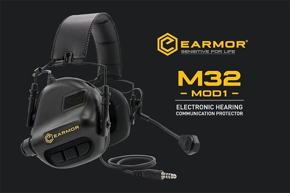 OPSMEN Earmor Airsoftsports Tático M32 Auscultadores Com