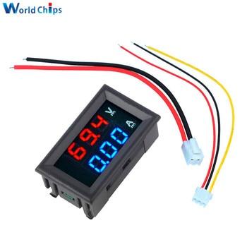 """0.56"""" Blue + Red Dual LED Display Mini Digital Voltmeter Ammeter DC 100V 10A Panel Amp Volt Current Meter Tester With Lines Hot"""