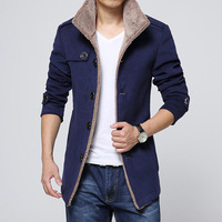 New 2018 Casual Fleece Men 'S Jacket Men Coats Winter Male Outerwear