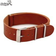 Genuine Leather Military Watch Strap Design Band Black Brown Buckle Watchband 18-22mm For Men
