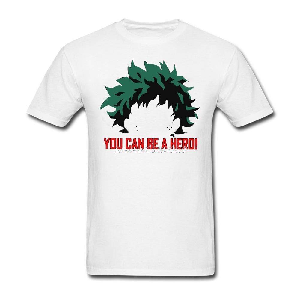 You can be a hero My Hero Academia T Shirt Custom Short Sleeve Top Camiseta Masculina 3XL O-neck Cotton Tee Shirts Homme