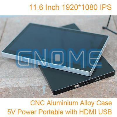11,6 pulgadas 1920*1080 IPS 5 V Pantalla de potencia portátil HDMI VGA juego Auto coche Raspberry Pi 3 Xbox PS4 aérea Monitor 1080 P 5 V de potencia