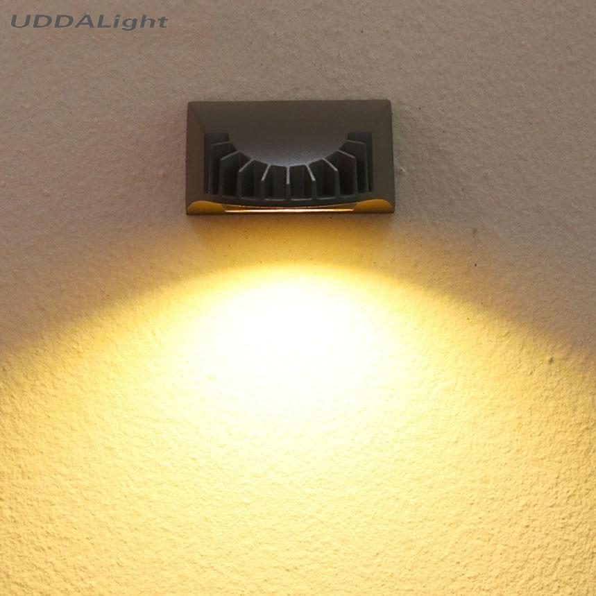 Led Outdoor-wandlampe Bescheiden Outdoor Wand Lampe Cob Led 5 Watt Schwarz/grau Waterpoof Heißer Garten Lampe Exterieur Led