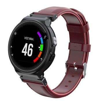 Genuine Leather Belt Wrist Band Watch Strap for Garmin Forerunner 220 230 235 630 620 735 Approach S20 S5 S6 Smart Watches black
