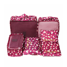 6Pcs/set Travel Bags Women Clothes Cosmetic Sorting Storage Pouch Portable Packi