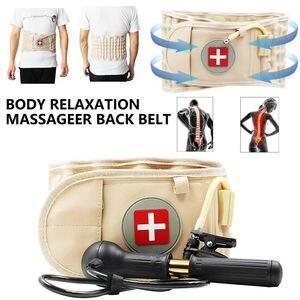 Image 4 - Lumbar Spinal air Decompression Back Belt Air Traction Waist Protect Belt Pain Lower Lumbar Support& Extender Belt Best