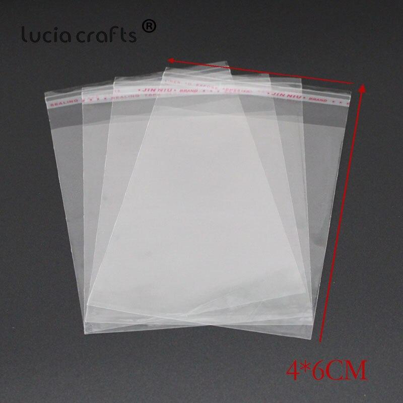 Lucia-sacs d'emballage en plastique, auto-adhésifs, sacs de rangement Opp, tailles multiples H1011